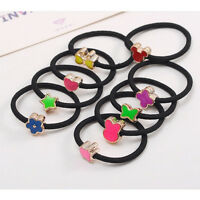 10Pcs Elastic Hair Ties Band Ropes Ring Ponytail Holder Accessories JB
