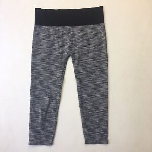Emerson Athletic Capri Pants Workout Leggings Heathered Stretchy Sz 12