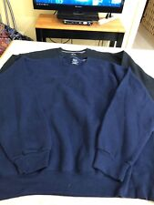 Men's Big And Tall Fruit Of The Loom (2) Black/Blue Sweatshirts Size 2XL