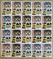 1984 Topps #100 - Reggie Jackson - California Angels HOF - 20ct Card Lot