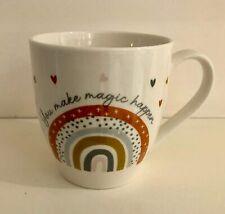 Rainbow Design Large Hugga Mug - Large Porcelain Mug