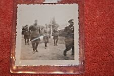 Original WW2 Photo of German Whermacht Solders in Plastic Holder
