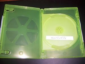 ONE (1) OFFICIAL Microsoft Xbox 360 2 Disc Replacement Case with Sleeve RARE