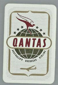Genuine Swap Vintage Playing Card  Advertising  QANTAS