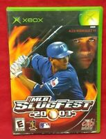 MLB Slugfest 2003 Baseball  Microsoft Xbox OG Game Complete Working Tested
