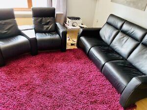 Echtleder Couchgarnitur Mit Relax-Funktion