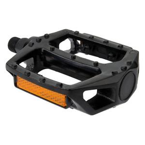 "Sunlite Bicycle MX Alloy Platform Pedals Black 9/16"" Spindle Commuter BMX Hybrid"