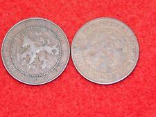 VINTAGE 1906 & 1913 NETHERLANDS 2 1/2 CENT COINS