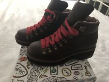 Jeffrey Campbell Lea Explorer Boots EU 38 Dark Coffee Brown With Red Laces