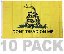 10 Pack - 3x5 Ft Dont Tread On Me Gadsden Culpepper Tea Party Flag yb