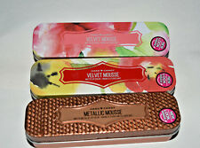 3x NIP Hard Candy METALLIC MOUSSE Matte Metallic Lip Color 3 colors