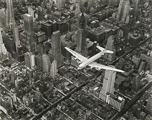 """Margaret Bourke-White - DC-4 Flying Over New York City 1939 - 17""""x22"""" Art Print"""