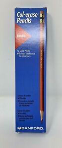 Sanford  Col-erase Colored Pencils - 12PC Green #20046  NEW UNSHARPENED Vintage