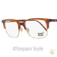 Montblanc Rectangular Eyeglasses MB552 053 Size: 53mm Havana/Gold 552