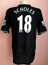 Manchester United 2003 - 2005 Away football Nike shirt #18 SCHOLES