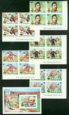 Chad 1977 World Cup Soccer imperf blocks & SS