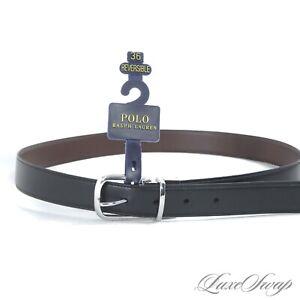 NWT #1 MENSWEAR Polo Ralph Lauren Reversible Black Brown Leather Dress Belt 36
