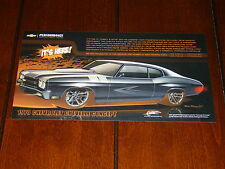 1970 CHEVROLET CHEVELLE CONCEPT CAR ***2012 DOUBLE SIDED SALES SHEET / BROCHURE
