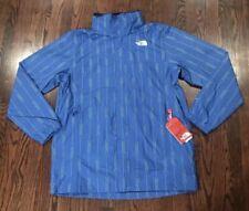 North Face Resolve Parka Rain Jacket Mens Blue White Stripe Men Size Large