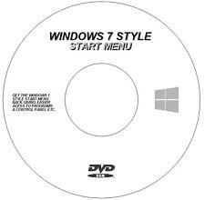NEW WINDOWS 7 STYLE START MENU BUTTON CD DVD REPLACES WIN 8 8.1 10 MENU