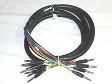 "4 CHANNEL INSERT SNAKE with 8 TS 1/4"" and 4 TRS 1/4"" CONNECTORS 10 FEET LONG"