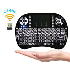New Rechargeable Backlit 2.4GHz Wireless Keyboard Touchpad Fly Air Mouse Mini US