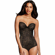 a8b3a8a6f3 Maidenform Firm Control All Over Solutions Bodysuit Size 36d Black Shapewear