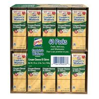 Lance Captain's Wafers Cream Cheese and Chives  Crackers (40 CT) (1 PACK)