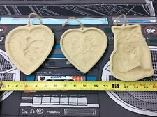 Vintage Brown Bag Cookie Art Shortbread Mold Lot Of 3! See Pics!