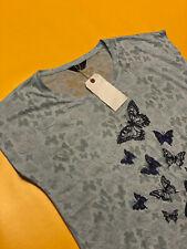 ORIGINALS Women's Top Blouse T-Shirt Short Sleeve Blue UK22 Polyester Butterfly