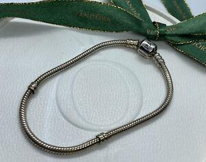 Genuine Pandora 19cm Classic Sterling Silver Charm Bracelet 925 ALE 590702HV