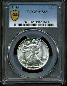 1947 50C Walking Liberty Half Dollar MS65 PCGS 19657611