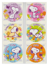 """Party Favors 1.2/"""" Round Each 80 Assorted Peanuts Movie Mini Stickers"""