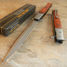 "TAC FORCE 13"" Extra Large Spring Assisted Open HARDWOOD Pocket Knife"