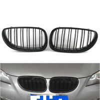 Gloss Black Double Slat Grilles Grill Kidney For BMW E60 E61 M5 5 Series 04-09