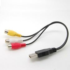 E-USB male to 3 RCA 3rca RGB Female Video Converter Cable HDTV TV c35