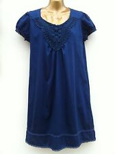 ATMOSPHERE Blue Crochet Detail Dress Size UK 14 WORN ONCE