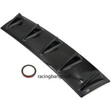 Universal Gloss Carbon Look Rear Bumper Lip Diffuser Shark 5 Fin Back Splitter