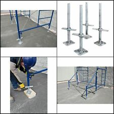 MetalTech 24 In. Adjustable Galvanized Scaffolding Leveling Jack (4-Pack)