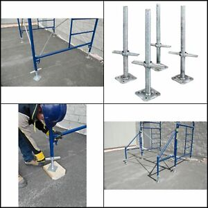 MetalTech 24 In. Adjustable Galvanized Scaffolding Leveling Jack (4-Pack)