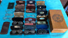 18 Antique Optical Eyeglasses Spectacles Most With Cases & Box, Bankers Wallet