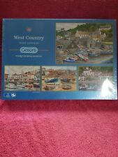 Gibsons 4x 500 piece jigsaw puzzles 'West Country' by Terry Harrison NEW sealed