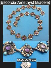 Necklace With Turquoise Accents Nice Taxco Sterling Silver 925 Escorcia Amethyst