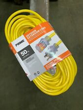 Prime 50' 125 V Yellow Outdoor Extension Cord