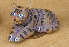 1:12 Scale Striped Resin Cat Tumdee Dolls House Living Room Accessory LK4