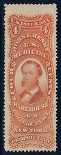 #RS116a 4¢ OLD PAPER JOHN F. HENRY CV $200.00 BR178