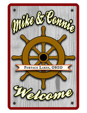 Personalized Nautical Sign Printed with YOUR NAME CUSTOM METAL BOAT SIGNS D#046
