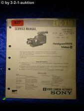 Sony Service Manual EVC x10 video grabadora Camera (#0927)