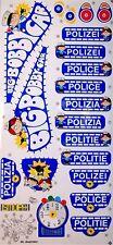 ORIGINAL Polizei Bobbycar BIG Polizeiaufkleber Bobby Car Aufkleber Sticker