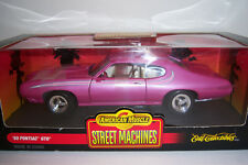 1969 Pontiac GTO. Die Cast Car 1:18 scale. Ertl American Muscle. Street Machines